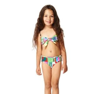 Mara Hoffman Belts Leopard Reversible Bikini